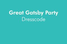 Dresscode voor een Great Gatsby Party. De dresscode voor de dames is Flapper. Flapper-girls dragen huidkleurige panty's, zware zwarte make-up, een flapper dress met ontblote schouders en accessoires zoals parelkettingen en charleston haarbandjes met veren. Een cloche hoed mag ook. Daar hoort dan wel een kort (bob)kapsel bij. De schoenen hebben een lage hak en over de wreef een bandje, zodat je de Charleston makkelijk danst. Klik op de afbeelding voor meer informatie! Great Gatsby Party, The Great Gatsby, Cocktail, Gymnastics, Cocktails, Shake