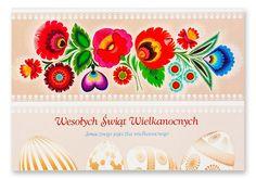 Karta wielkanocna z kodrą kwiatową - motyw ludowy Polish Easter, Paper Art, Folk Art, Decorative Paintings, Needlepoint, Papercraft, Popular Art