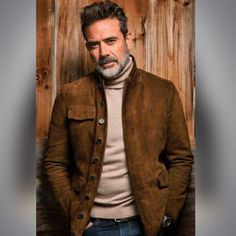 The Walking Dead Negan Jeffrey Dean Morgan Suede Leather Jacket  Product Details: High Quality Real Leather Jacket Attractive Style Motorcycle Biker Jacket 3 Outter and 2 Inner Pockets  We Never Compromise on Quality