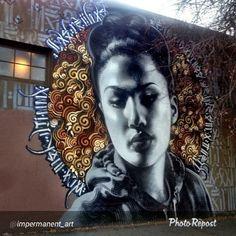 Artistas y @mac_arte @ironeyeretna |  El fotógrafo: @impermanent_art |  #elmac #retna #vimural #mural #streetart #urbanart #wallart #urban #graffiti #graffitiart #ironlak #Belton #molotow #mtn #streetartist #arteurbana #krink