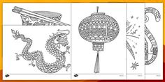 Chinese New Year Mindfulness Colouring Sheets - Twinkl