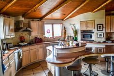 <3 The kitchen in the York Straw Bale House (holy shit this is amazingly beautiful!!!) <3