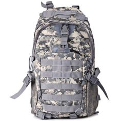 Multipurpose Water Resistant Military Backpack with Molle System for Outdoor #jewelry, #women, #men, #hats, #watches