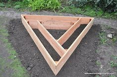 Square foot gardening- My husband LOVES this kind of thing.  I don't think he has thought of a triangle :)