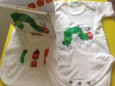 Organic Hungry Caterpillar Bodysuit-The Very by DollyOliveShop Unique Baby Gifts, Handmade Gifts, Hungry Caterpillar, Onesies, Bodysuit, Trending Outfits, Kids, Organic, Etsy