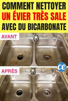 Comment nettoyer et faire briller un évier très sale avec du bicarbonate