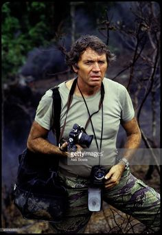 World Photography Day - English war photographer Don McCullin with his favourite Olympus camera in the Philippines, November