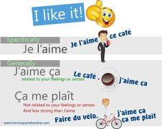 I like it in French