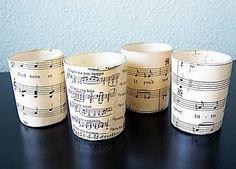 sheet music votives