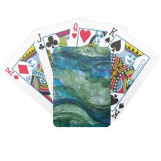 Underwater Galaxy Bicycle Playing Cards designed by #LiveWaterStudios