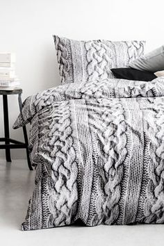 Everything You Need To Sleep Easy #refinery29  http://www.refinery29.com/bedding#slide7  H&M Duvet Cover Set, $17.95, available at H&M.