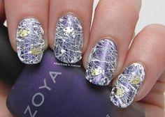 Spun Sugar Spider Web Nail Art! - Adventures In Acetone