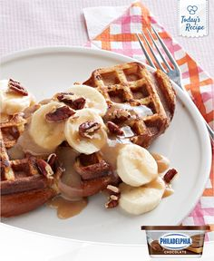 Get funky with your French toast by making it in a waffle iron.
