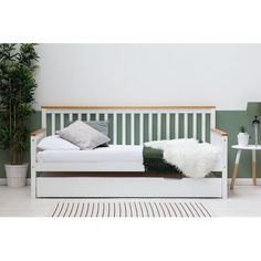 Wooden Trundle Bed, Trundle Mattress, Futon Bed, Daybed With Trundle, Wooden Bed Frames, Wooden Sofa, Daybed With Storage, Beds Online, Guest Bed