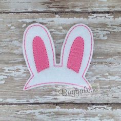 Oversized Bunny Ears Feltie Embroidery Design by Buggalena