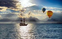 Balloons over the Mediterranean             Photo by Ahmet GUL ~ National Geographic | Your Shot