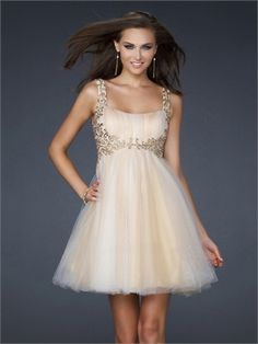 A-line Square Neckline Pleated On the Bust Short Prom Dress PD10719 www.dresseshouse.co.uk £85.0000
