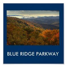 BLUE RIDGE PARKWAY Poster  Photo taken by Jane Best near Grandfather Mountain, North Carolina.
