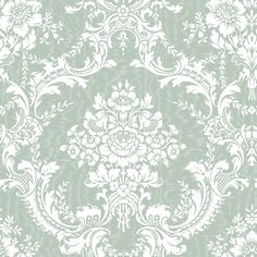 Blue Mountain Antoinette Damask Aqua Pearl Strippable Non-Woven Prepasted Wallpaper at Lowe's Canada