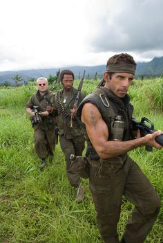 Tropic Thunder (2008) – starring Ben Stiller's muscles and Robert Downey, Jr. in his first black role.