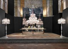 Enchanting purity and austerity of crystals, Baccarat transformed unique church setting into sumptuous surrounding to celebrate '250 years of light' during the Salone del Mobile as part of Milan Design Week.