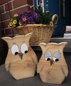 Simple original modern wood animal desktop ornam - Wood How to Crafts Wood Owls, Wood Animal, Animal Decor, Small Wood Projects, Owl Crafts, Desktop, Home Decor Pictures, Home Decor Paintings, Wood Creations