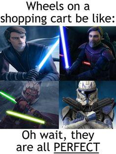 Star Wars Jokes, Star Wars Facts, Star Wars Clone Wars, Star Trek, Anakin Skywalker And Ahsoka Tano, Darth Maul, Funny Photoshop, Memes, Star Wars Pictures