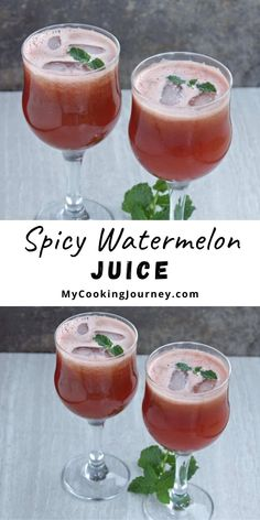 Summer is a great time to explore different juices and this Spicy Watermelon Juice is the perfect recipe to beat the heat with the seasonal fruit. #watermelonjuice #watremelon #drink #mycookinjourney @mycookinjourney | mycookingjourney.com Other Recipes, Yummy Recipes, Great Recipes, Sweet Watermelon, Watermelon Recipes, Bite Size Appetizers, Indian Diet, Chaat Masala, Different Fruits