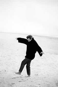 Am Strand von Arles in der Camargue hat Peter Lindbergh 1993 die in diesem Artikel gezeigten Porträtserie seiner guten Freundin Jil Sander aufgenommen