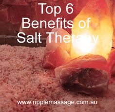 Top 6 reasons we love Salt Therapy.   #salttherapy #salt #therapy  https://www.ripplemassage.com.au/salt-therapy/