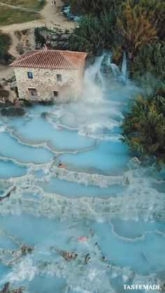 Take a break from reality and virtually transport yourself to the Saturnia hot springs in Italy. Trust us, your worries will just melt away.  via: Bucket Vision & Taylor O'Sullivan Beautiful Places In The World, What A Wonderful World, Dream Vacations, Vacation Spots, Cool Places To Visit, Places To Travel, Spring In Italy, Adventure Bucket List, Amsterdam Travel