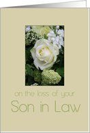 son in law White rose Sympathy card Card by Greeting Card Universe. $3.00. 5 x 7 inch premium quality folded paper greeting card. Find Sympathy cards for everyone on your list at Greeting Card Universe. Make the occasion a memorable one by sending a custom Sympathy card. Send a paper Sympathy card from Greeting Card Universe this year. This paper card includes the following themes: photo, photography, and studio porto sabbia. Greeting Card Universe has the best Loss of So...