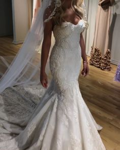 Gorgeous Embroidered Strapless Sweetheart Mermaid Wedding Dress / Bridal Gown with a Veil and a Train. Dress by Valdrin Sahiti Gorgeous Embroidered Strapless Sweetheart Mermaid Wedding Dress / Bridal Gown with a Veil and a Train. Dress by Valdrin Sahiti Sweetheart Wedding Dress, Lace Mermaid Wedding Dress, Princess Wedding Dresses, Dream Wedding Dresses, Bridal Dresses, Boho Wedding, Wedding Ceremony, Summer Wedding, Bridesmaid Gowns