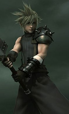 Cloud Strife. Official poster. Final Fantasy Dissidia/Final Fantasy VII.