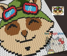 Teemo League of Legends crochet graph/pattern by TwoMagicPixels