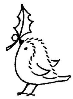51 Ideas Bird Cartoon Free Printable For 2019 Christmas Embroidery Patterns, Hand Work Embroidery, Embroidery Patterns Free, Cross Stitch Embroidery, Rug Patterns, Christmas Rock, Simple Christmas, Christmas Crafts, Handmade Christmas