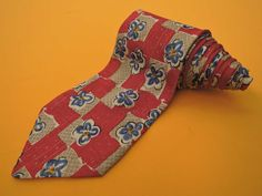 Givenchy Tie Jacquard Silk Floral Pattern Red Vintage Designer Dress Necktie Made In Italy by InPersona on Etsy