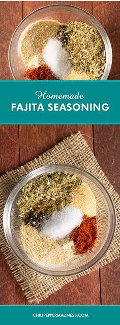 Visit the post for more. Homemade Fajitas, Homemade Fajita Seasoning, Fajita Seasoning Mix, Burrito Seasoning Recipe, Chicken Seasoning, Homemade Spices, Homemade Seasonings, Chapati, Paninis