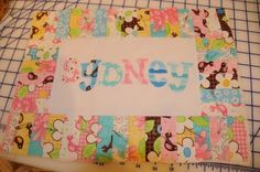 Personalized Name Pillow tutorial