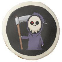 Grim Reaper Halloween Sugar Cookie Delivery