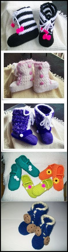 Crochet boot and slipper patterns.