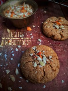 Almond Meal Cookies, Healthy Cookies, Vegetarian Platter, Vegetarian Recipes, Best Cookie Recipes, Cookies Ingredients, Biscuit Recipe, International Recipes, Recipe Using