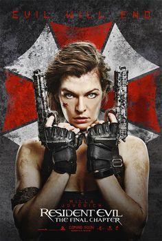 Y otro cartel más de Resident Evil: The Final Chapter