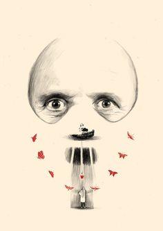 Silence of the Lambs Film 4 - Peter Strain Illustration