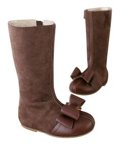 Look at this Brown Sasha Boot & Charm - Kids on #zulily today!