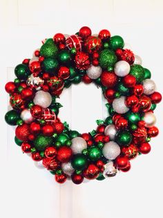 53 Best Ornament Wreath Images On Pinterest Ornament Wreath