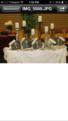 NJHS candle table for display after mass