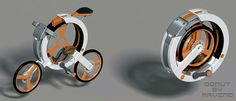 bits of life | Donut Folding Bicycle by Arvind M Gadgets And Gizmos, Technology Gadgets, Folding Bicycle, Folded Up, Bicycle Design, Yanko Design, Mobiles, Car Wheels, Modern House Design