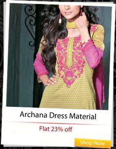 Archana Fashion Attire Dress Material at flat 23% off!