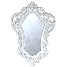 ORNATE WALL MIRROR SHABBY CHIC VINTAGE 59x39CM WHITE WOOD FRAME NEW in Home, Furniture & DIY, Home Decor, Mirrors | eBay